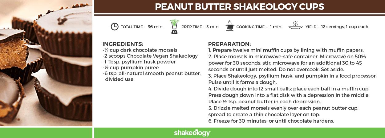 Peanut Butter Shakeology Cups