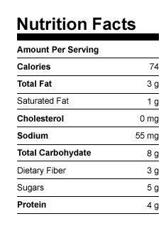Nutritional Data Peanut Butter Shakeology Cups