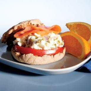 Egg & Salmon Sandwich