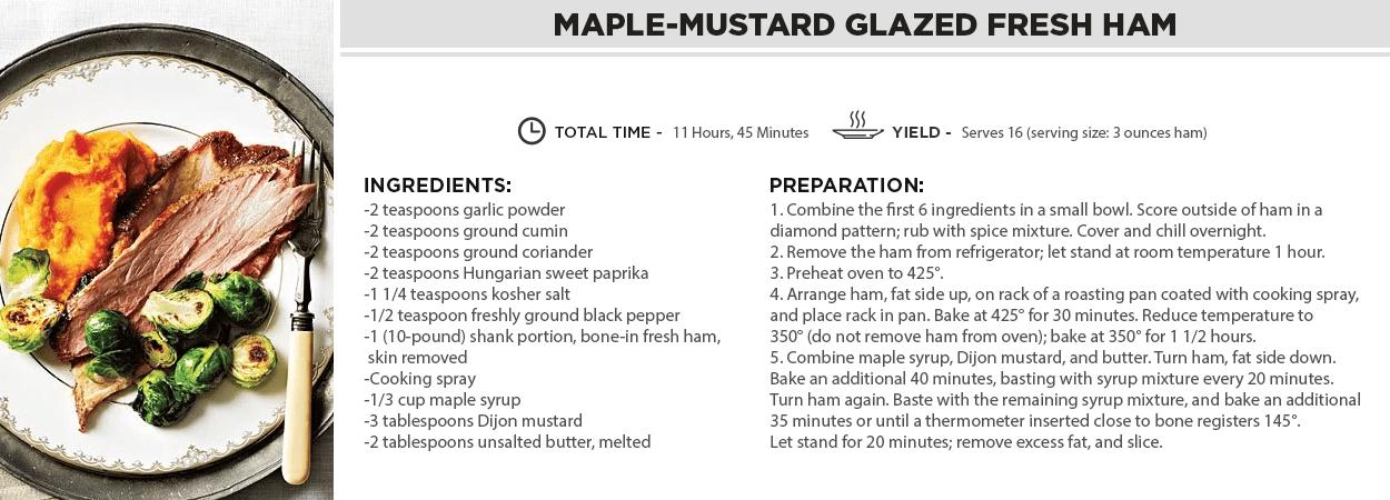 Maple-Mustard Glazed Fresh Ham