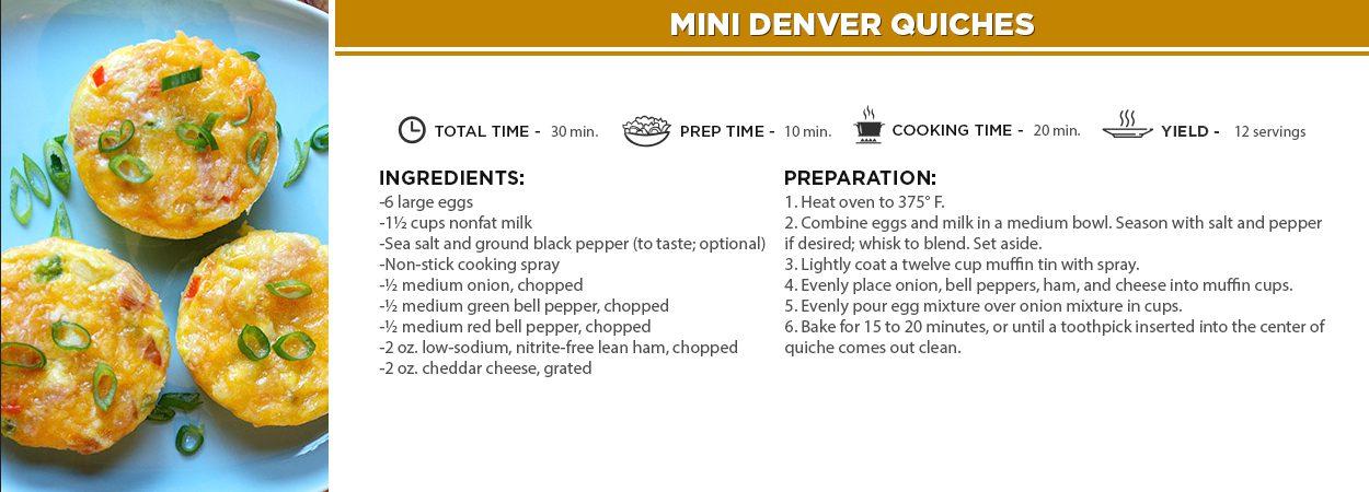 Mini Denver Quiches