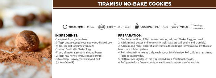 Tiramisu No-Bake Cookies