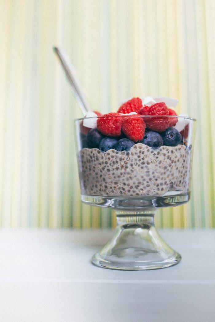 Patriotic Shakeology Chia Seed Pudding Parfait Recipe