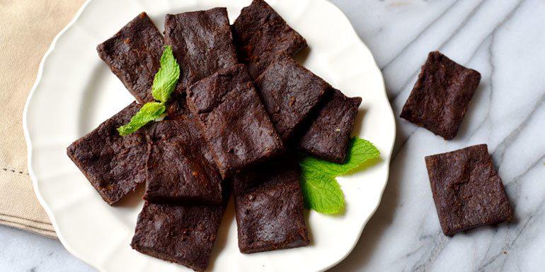 Double Chocolate No-Bake Vegan Brownies