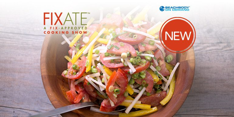 Summer Tomato Salad with Creamy Raspberry Vinaigrette