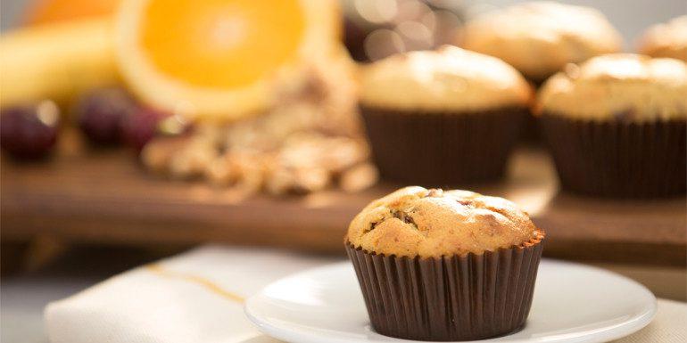 Vegan Orange Cherry Muffins